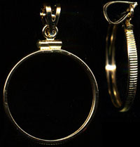 4K Reeded Edge Gold Coin Bezels