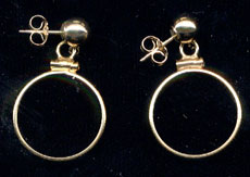 14 K Coin Earring Mountings