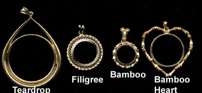 Miscellaneous 14 K (Prongback) Gold Bezels
