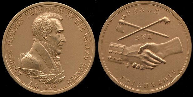 "1829 Andrew Jackson 3"" Medal"