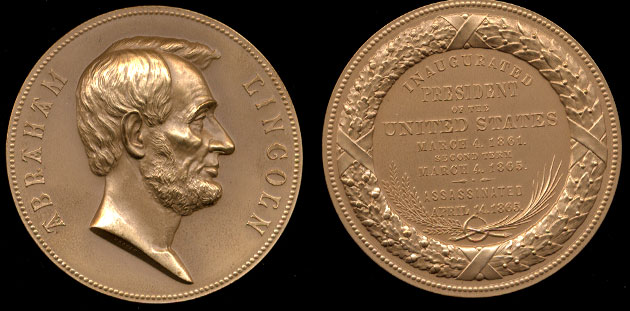 """Abraham Lincoln 3"""" Medal"""