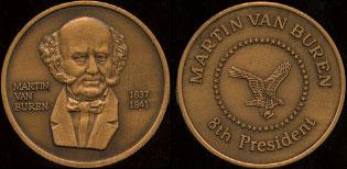 Martin Van Buren 1837 - 1841 Martin Van Buren Brass Round
