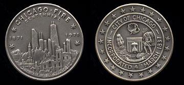 1871-1971 Chicago Fire Centennial Silver Round