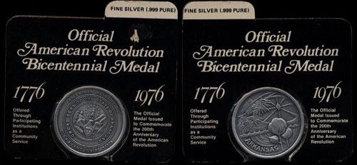 Official Arkansas American Bicentennial Medal 1776-1976 .999 Fine Silver