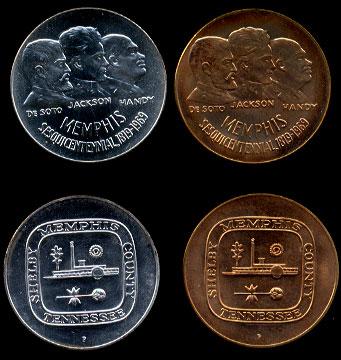 Memphis Sesqicentennial medal Set