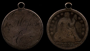 1853 To Mom from E Love Token Pendant