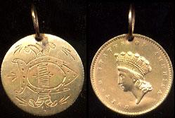 """""""DI"""" Love Token On Rare Type II US Gold Dollar"""