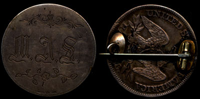 MAS Seated Half Pin Love Token
