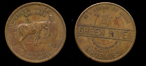 Green River Whiskies N.Y.C. Brass Token