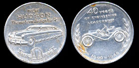 New Hudson Auto Token 1909-1949 32mm