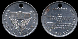 Victory Liberty Loan  WWII Relic Medal White Metal