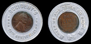 Occidents1952 D Encased Cent