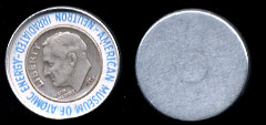 1953 Encased Irradiated  Silver Dime