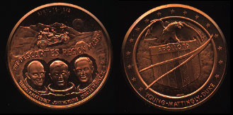 The Descartes Region Mission 1972 Apollo 16 Copper Round