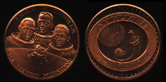 Apollo 14 Third Moon Walk Copper Round