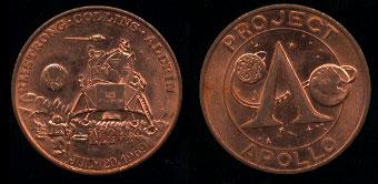 Apollo Project Apollo Coins Seven - Pics about space