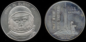 John Glenn Glenn Jr. U.S. Man in Space Medal