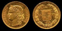 Swiss 10 francs Gold Coin