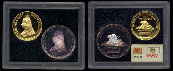 Inter-Gold Canada LTEE 1981 Gold and silver set