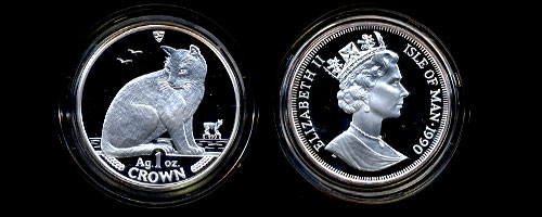 1990 New York Alley proof Silver one ounce Coin
