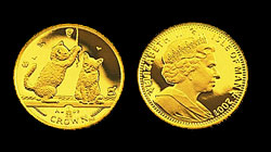 Isle Of Man Gold Cat Coin
