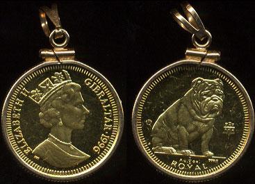 Gibraltar Dog Gold Coins