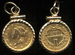 Gold Coins In Bezels