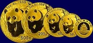 China Mint Panda Gold Coins