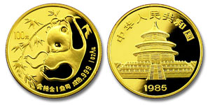 1985 China Panda Gold Coin