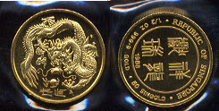 1988 Year of the Dragon One Half Ounce Gold Coin