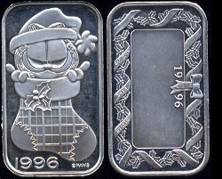 Christmas Garfield Stocking Silver Art Bar