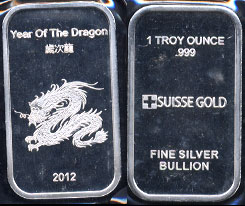 Silver Artbars Featuring Fantasy Characters