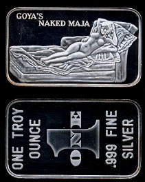 WEST-7V Goya's Naked Maja Silver Bar