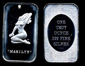 WWM-111 Marilyn Monroe Silver Bar