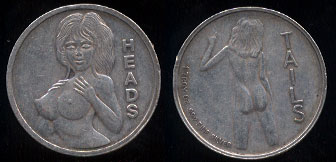 Heads Or Tails Sexy Adult Flip Coin (Circulated)