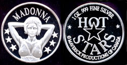 Madonna One Ounce Silver Round