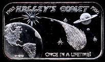 Halley's Comet Silver Bar