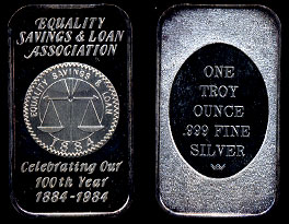 WWM-125 Equality Savings & Loan Silver Artbar