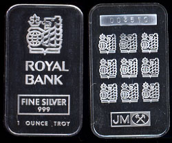 JML-15 Royal Bank Silver Artbar
