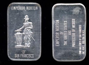 CGSF-2  Emperor Norton of San Francisco Silver Artbar