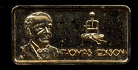 AM-584G Thomas Edison Gold-Plated Silver Bar