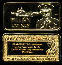 HAM-603G William Halsey Gold-Plated Silver Bar