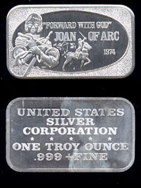 USSC-65 Joan of Arc Silver Artbar