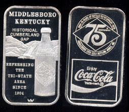 WWM-102 Middlesboro, Ky. Coke Silver Artbar