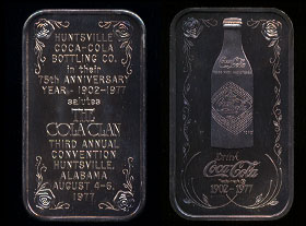 WWM-68 Huntsville, Al. Cola Clan Coke Silver Artbar