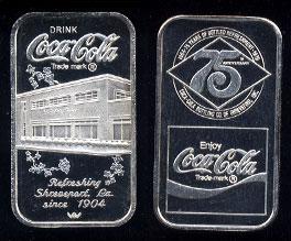 WWM-98 Shreveport, La. Coke Silver Artbar