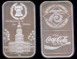 WWM-86 Philadelphia, Pa. Coke Silver Artbar