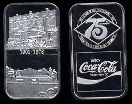 WWM-63 Columbus, Ga. Coke Silver Artbar