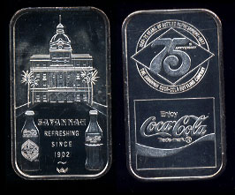 WWM-84 Savannah, Ga. Coke Silver Artbar