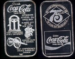 WWM-93 Athens, Ga. Coke Silver Artbar